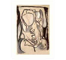 Abstract Nude 3 (paint sketch) Art Print
