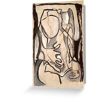 Abstract Nude 3 (paint sketch) Greeting Card