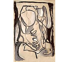 Abstract Nude 3 (paint sketch) Photographic Print