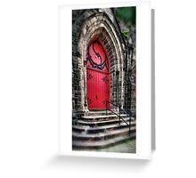 Church Doors Greeting Card