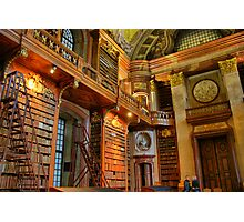 old library, HDR, vienna Photographic Print
