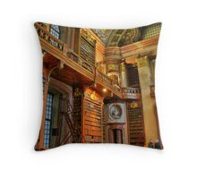 old library, HDR, vienna Throw Pillow