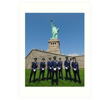 Statue of Liberty with the Air Force Honor Guard Art Print