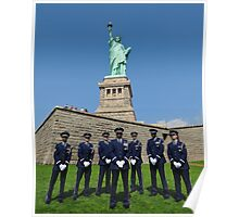 Statue of Liberty with the Air Force Honor Guard Poster