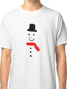 Snowman in a Blizzard Classic T-Shirt