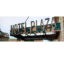 Hotel Plaza Photographic Print