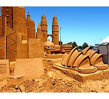 Golden sand architecture Photographic Print