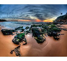 Love On The Rocks - Warriewood Beach, Sydney (35 Exposure HDR Panorama- The HDR Experience Photographic Print