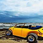 VW Roadster at the Beach on Padre Island with VivaChas by ChasSinklier