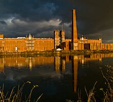 Sibley Mill during a storm by Jonathan Covington