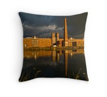Sibley Mill during a storm Throw Pillow