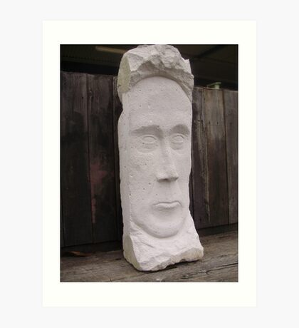 Stone Faced Art Print
