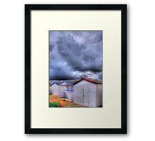 Beach Huts - Shoreham Beach - West Sussex - HDR Framed Print
