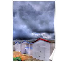 Beach Huts - Shoreham Beach - West Sussex - HDR Poster