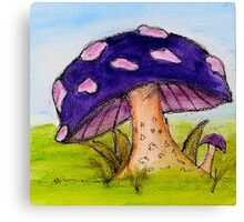 Beneath the toadstool Canvas Print