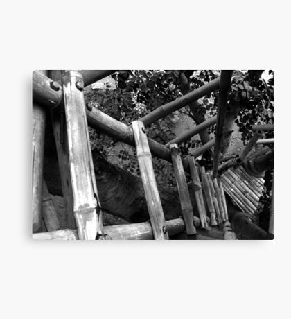 looking down the tree house Canvas Print