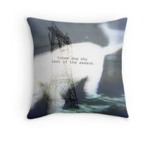 totem dog sky last of season Throw Pillow
