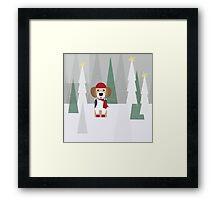 BEAGLE LOVE FOR CHRISTMAS! Framed Print