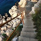 Stairs to the sea by Aleksandra Misic