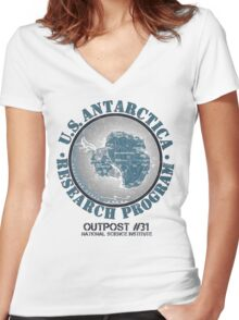 OUTPOST #31 Women's Fitted V-Neck T-Shirt