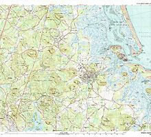 Massachusetts  USGS Historical Topo Map MA Ipswich 351039 1985 25000 by wetdryvac