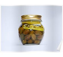 Jar of Home Made Lemon Olives  Poster