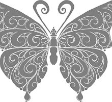 Black and white butterfly by seahorsieus