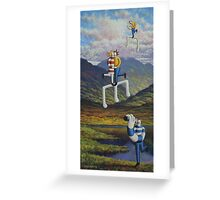 Irish landscape with lovers notes  and musicians Greeting Card