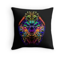 Abstract Colorful Jewel Lion for the Leo Sign Throw Pillow