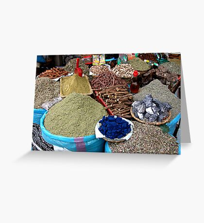 The Spice of Life. Greeting Card