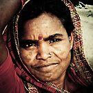Lady in Varanasi - India by Marlies van Kampen