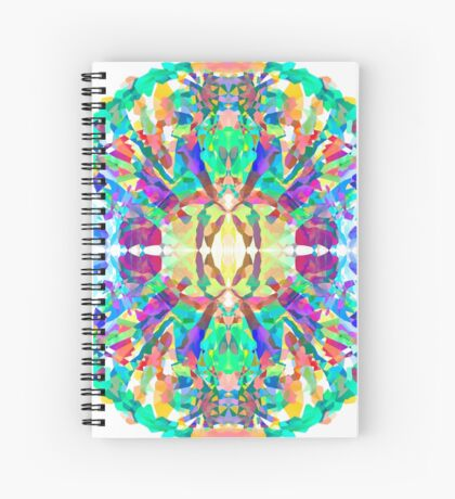Abstract Psychedelic Gem  Spiral Notebook