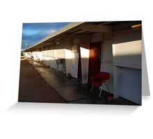 Retro Motel, Nullarbor Plain Greeting Card