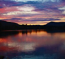 Sunset on the Hudson. by Jennifer Bishop