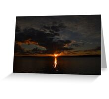 Radiant Sunset Over the Boundary Waters Greeting Card