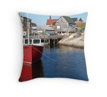 Peggy's Cove Fishing Village Throw Pillow