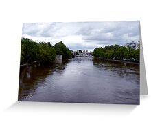 River Ouse in Flood -York Greeting Card