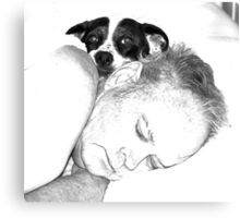 Bed Partners Canvas Print