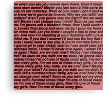 Paramore lyrics Metal Print