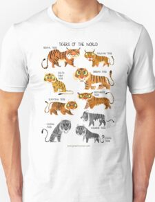 Tigers of the World Unisex T-Shirt
