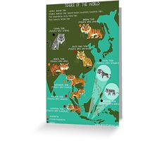 Tigers of the World Greeting Card