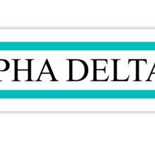 Alpha Delta Pi Teal Bars Sticker