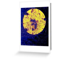 On his Way to the Casino, Harry saw a Giant #3 on the Face of the Moon Greeting Card