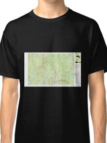 Massachusetts  USGS Historical Topo Map MA Barre 350832 1988 25000 Classic T-Shirt