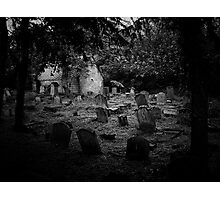 auld manse graveyard Photographic Print