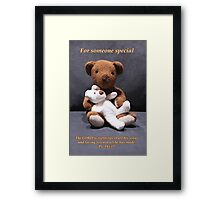 Teddy bear card/gifts/t-shirt-Psalm 145:17 Framed Print