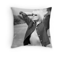 Hitchhiker??002 Throw Pillow