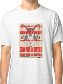 Orwellian Cat: Down With Big Brother Classic T-Shirt