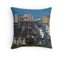 Wide shot of the Cleveland Clinic Brain Center, downtown Las Vegas, Nevada Throw Pillow