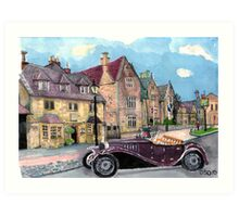 Broadway High Street the Lygon Arms Art Print
